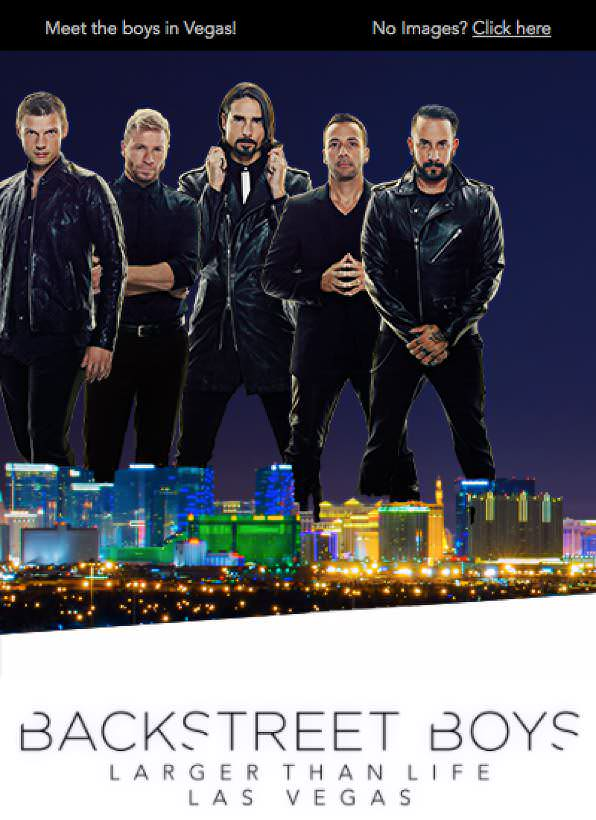 Backstreet Boys marketing email - Agencies
