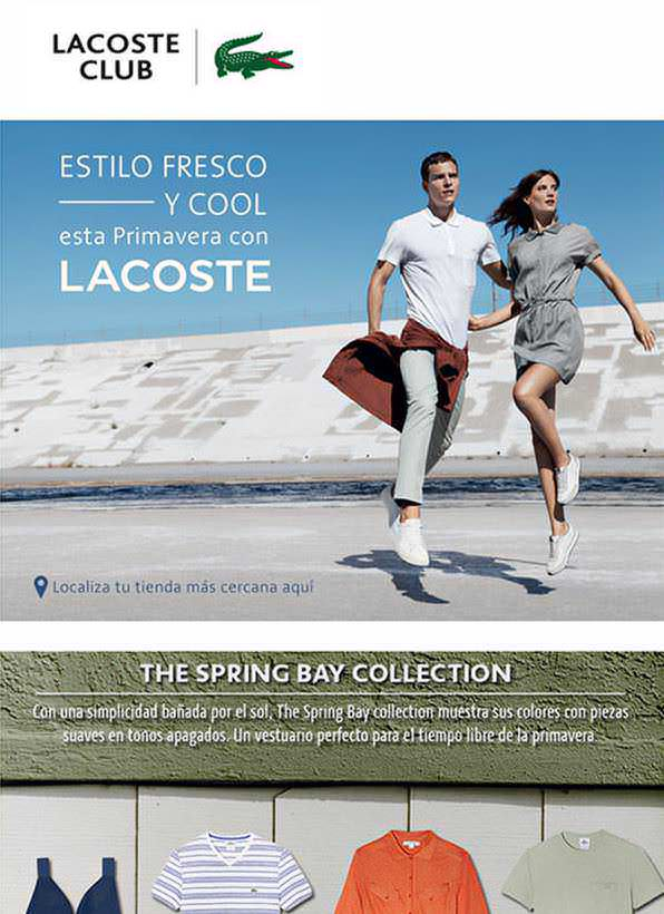 Lacoste marketing email - Agencies