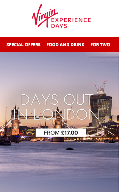Virgin - Mobile Email Marketing Campaign Example