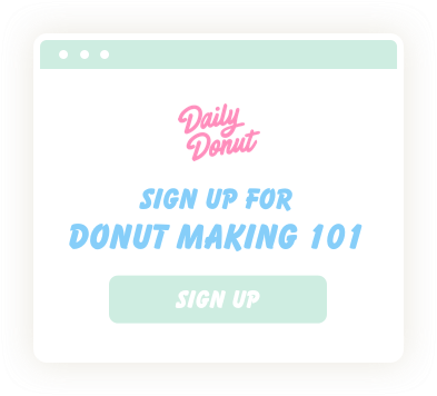 Daily Donut Newsletter Sign Up Form
