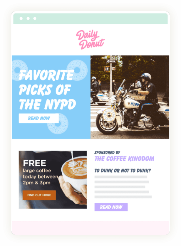 Donuts Case Study Newsletter