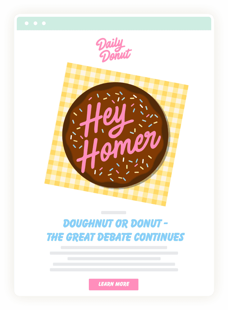 Daily Donut Announcement Email 2