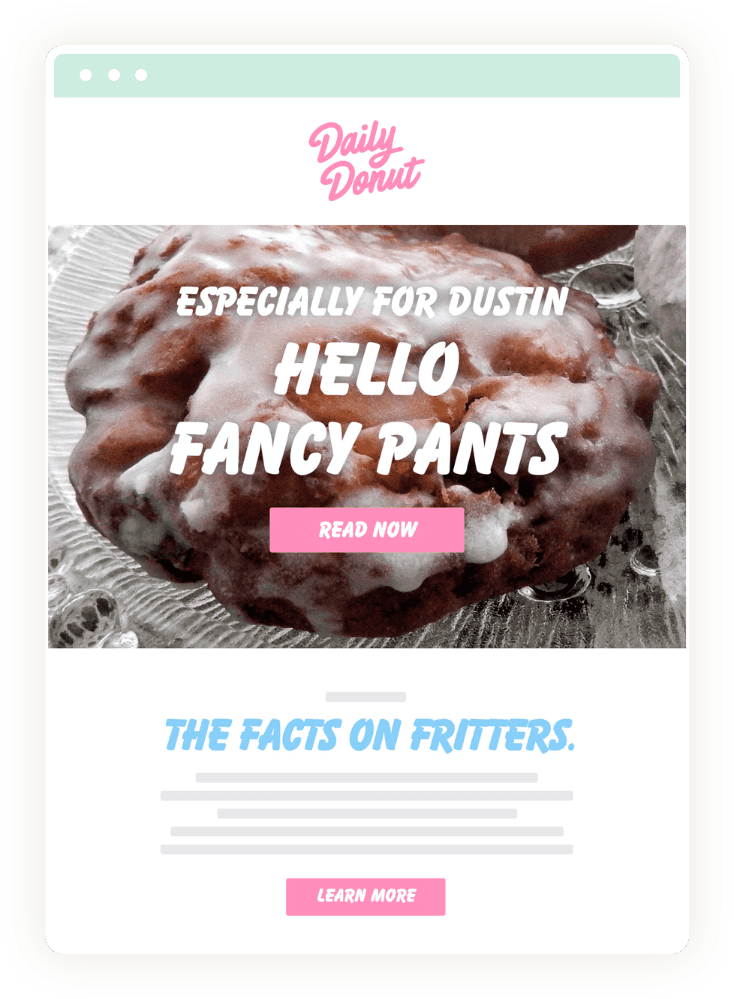 Daily Donut Segmented Newsletter
