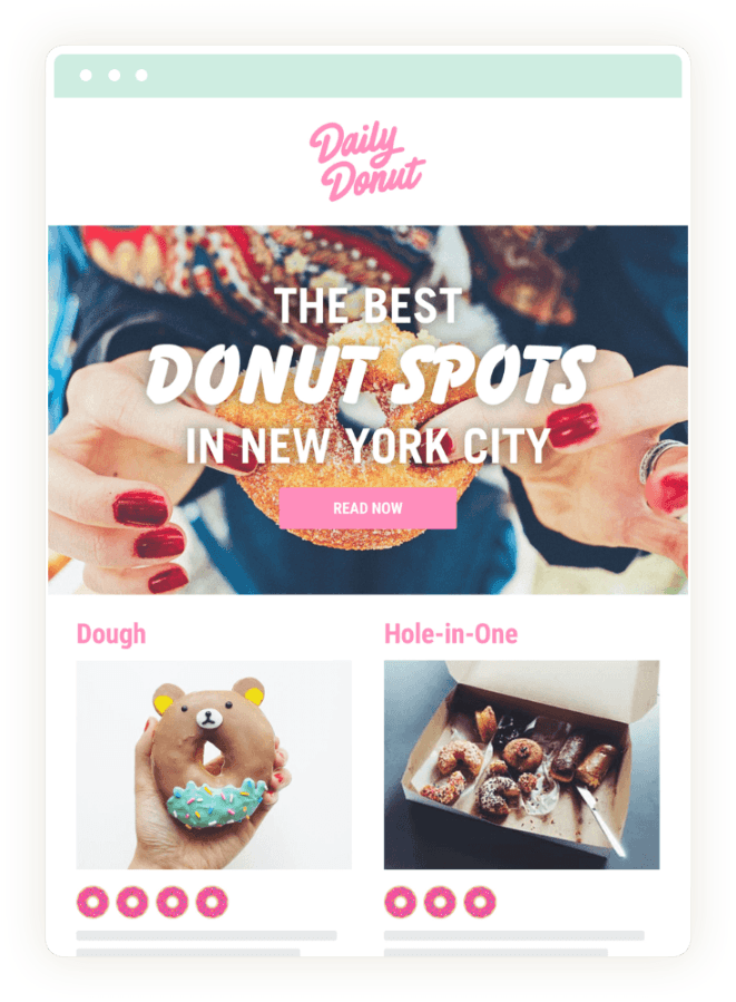 Daily Donut Announcement Email