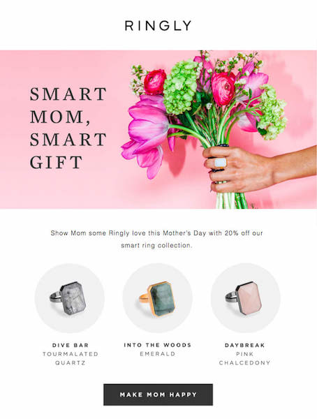 Campaign Monitor Customer Ringly Email