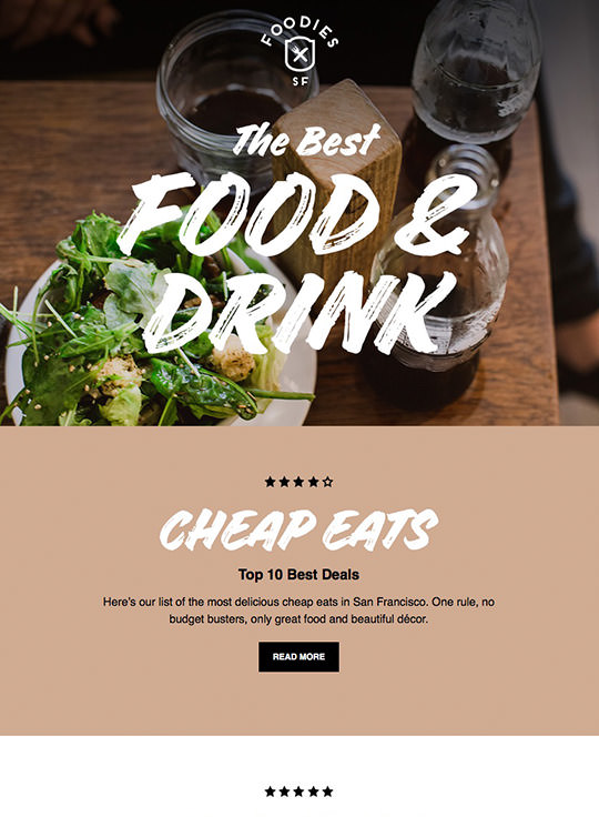 Email Template Builder - Foodies