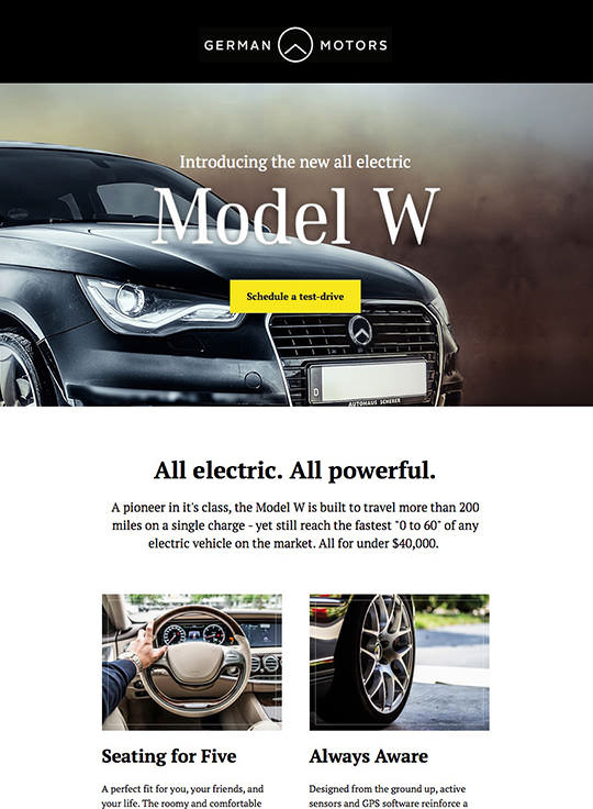 Email Template Builder - German Motors