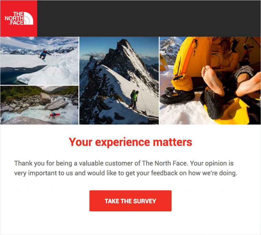GetFeedback - The North Face Email