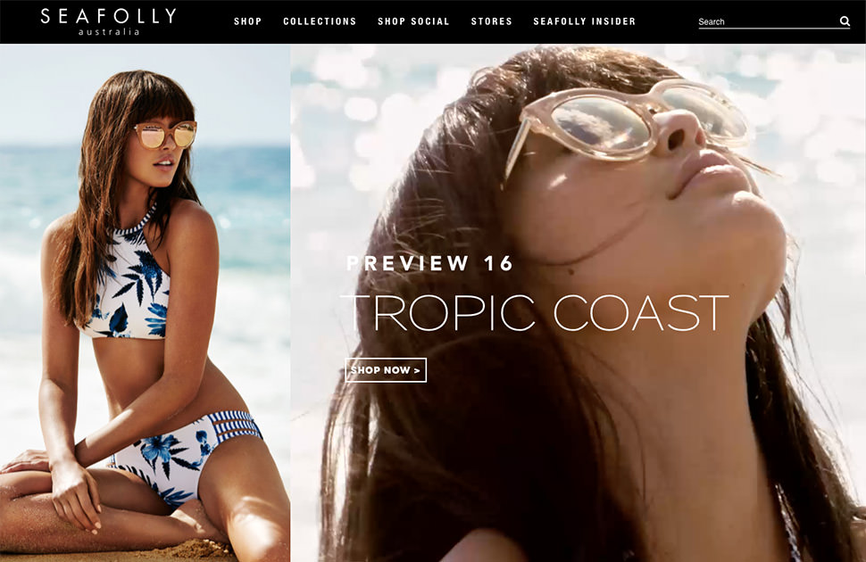 Seafolly website example