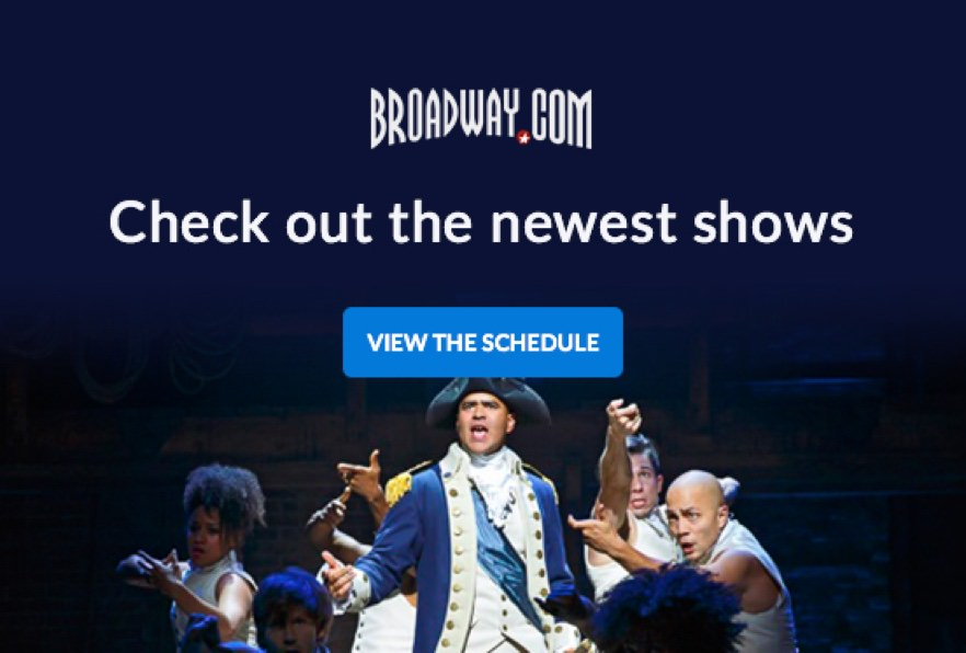 Broadway.com automated email newsletter