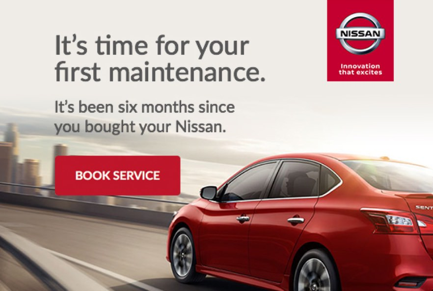 Nissan automated reminder marketing email