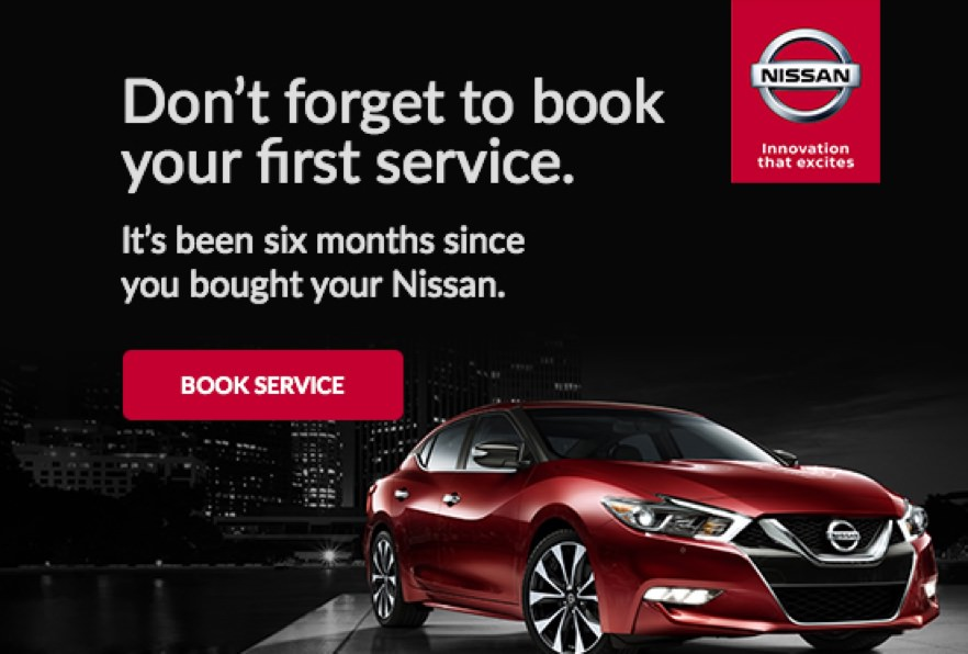 Nissan automated reminder email
