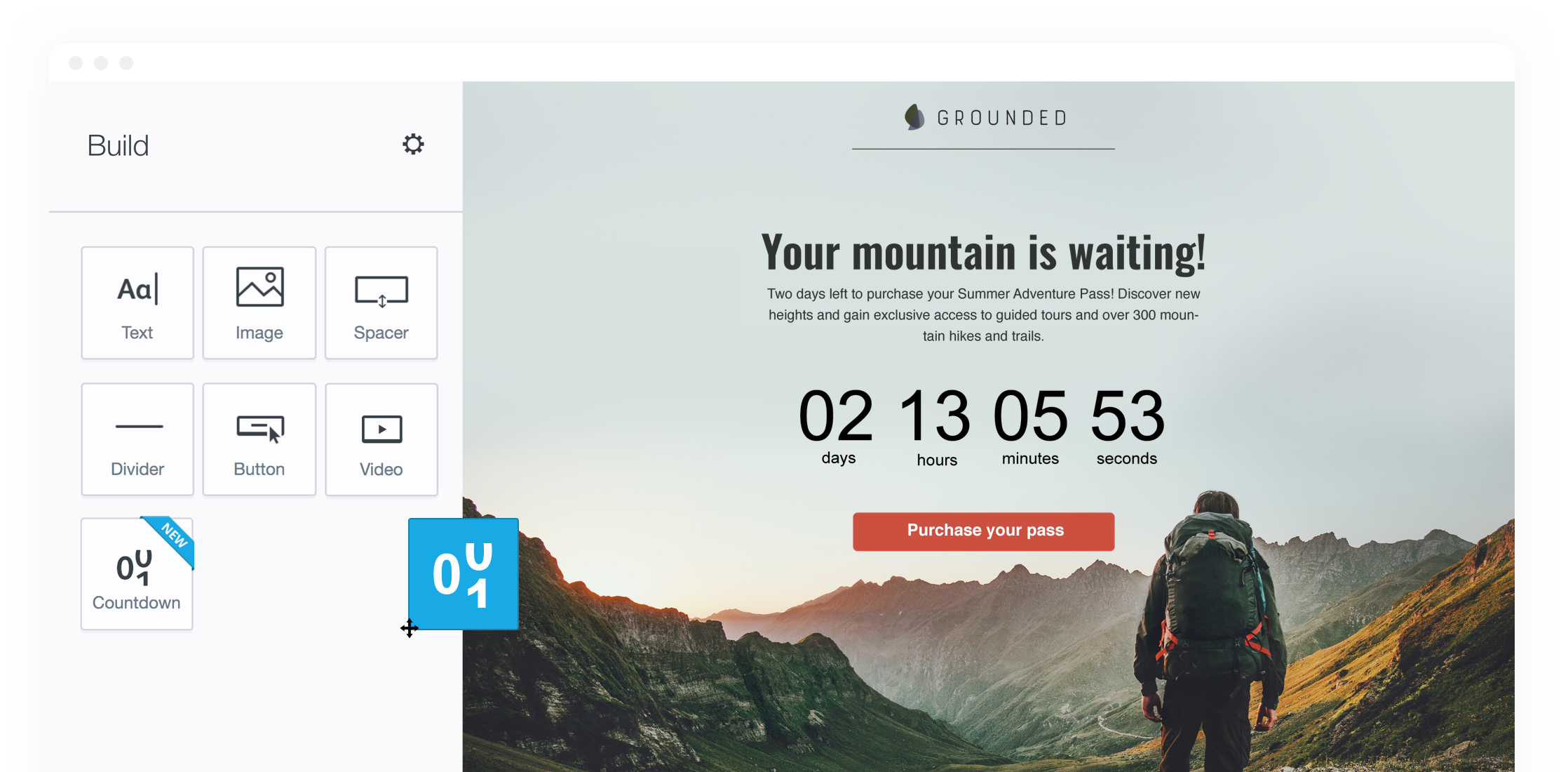 Campaign Monitor Features - Countdown Timer and Templates