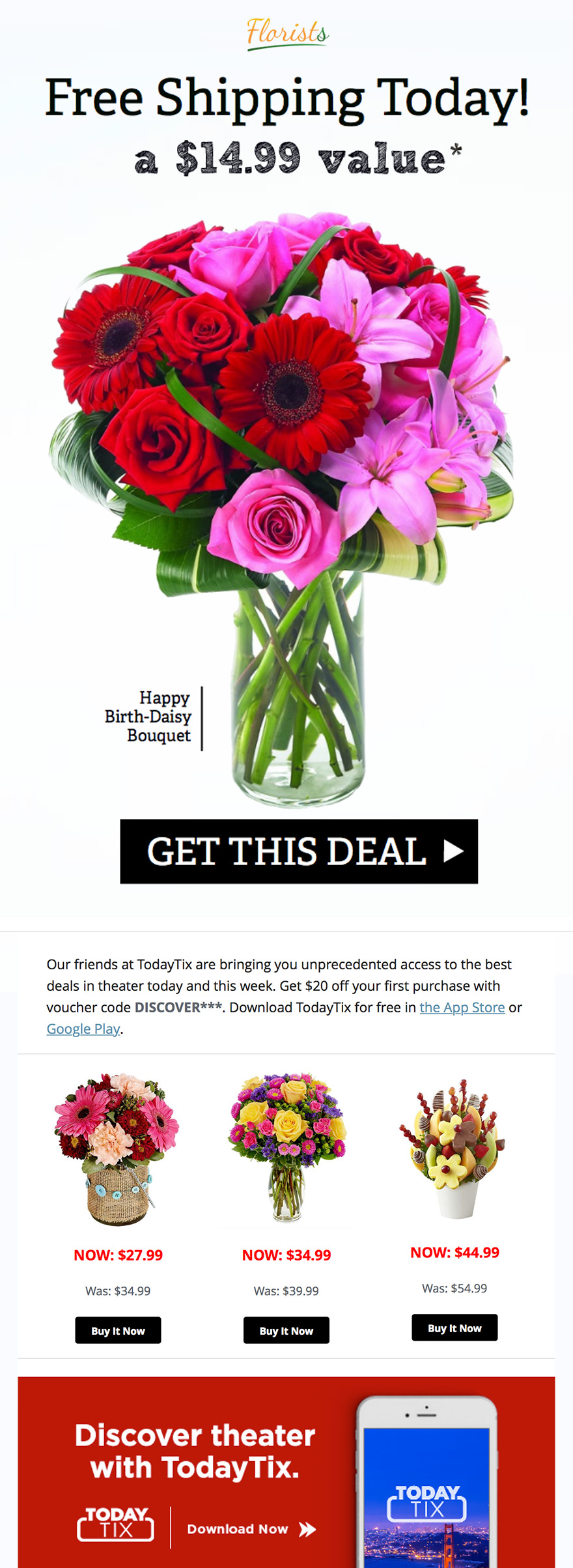 Shopify Integration - Offer to Repeat Customers - Florists Email