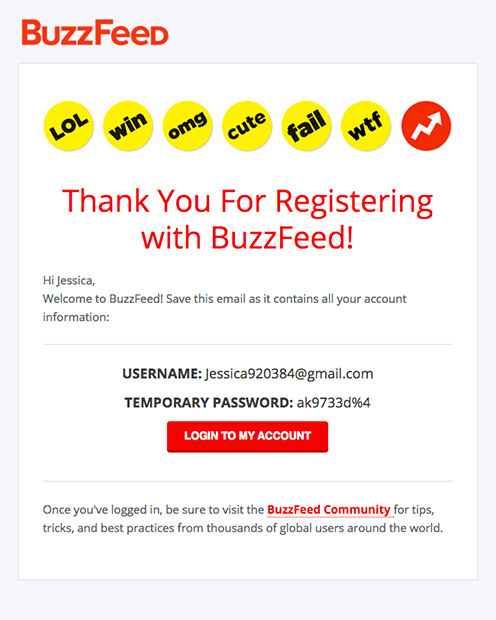 Transactional Email - BuzzFeed