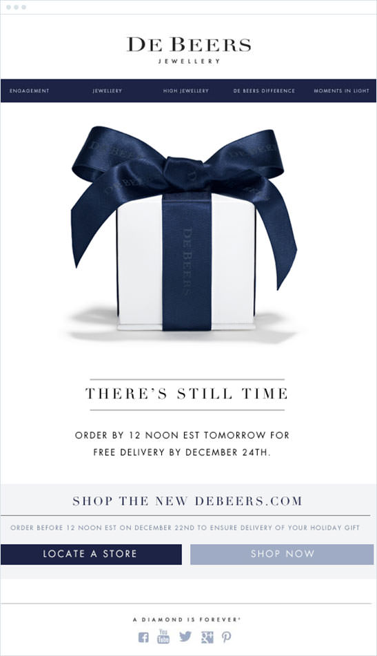 Email Marketing - De Beers Announcement Email