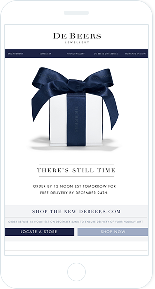 Email Marketing - De Beers Mobile Announcement Email