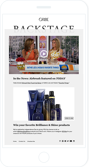 Email Marketing - Oribe Mobile Announcement Email