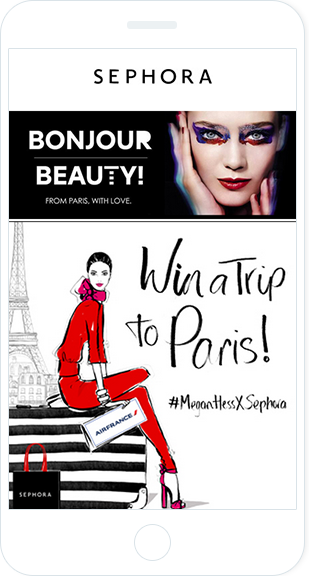 Email Marketing - Sephora Mobile Announcement Email