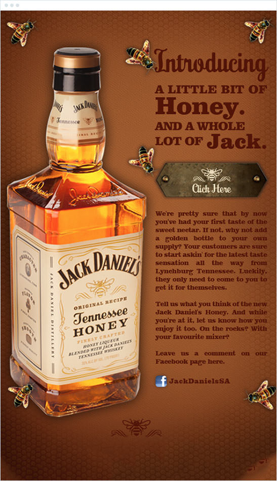 Email Marketing - Jack Daniels Marketing Offers Email