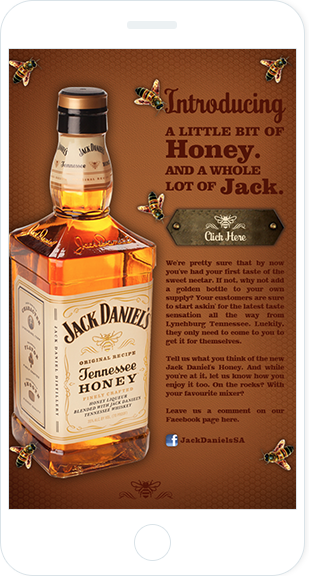 Email Marketing - Jack Daniels Mobile Marketing Offers Email