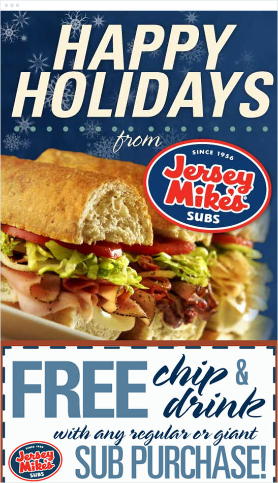 Email Marketing - Jersey Mikes Subs Marketing Offers Email