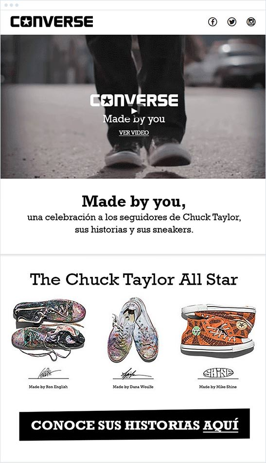 Email Marketing - Converse Email Newsletter