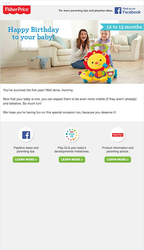 Email Marketing - Fisher Price Email Newsletter