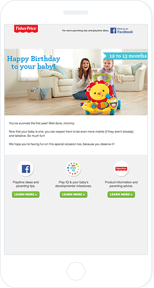 Email Marketing - Fisher Price Mobile Email Newsletter