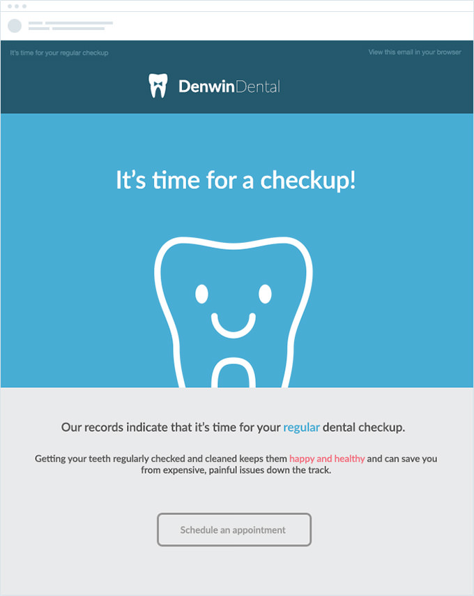 Denwin Dental - Appointment Reminder Email