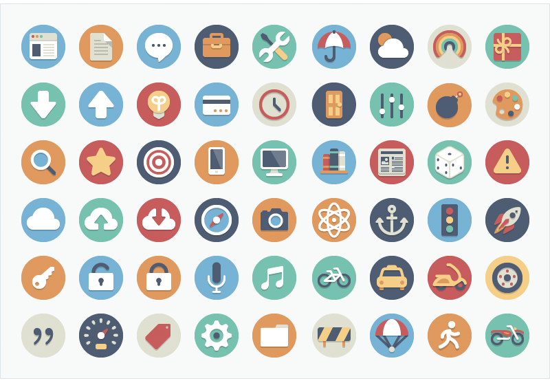 Beautiful Flat Icons by Elegant Themes