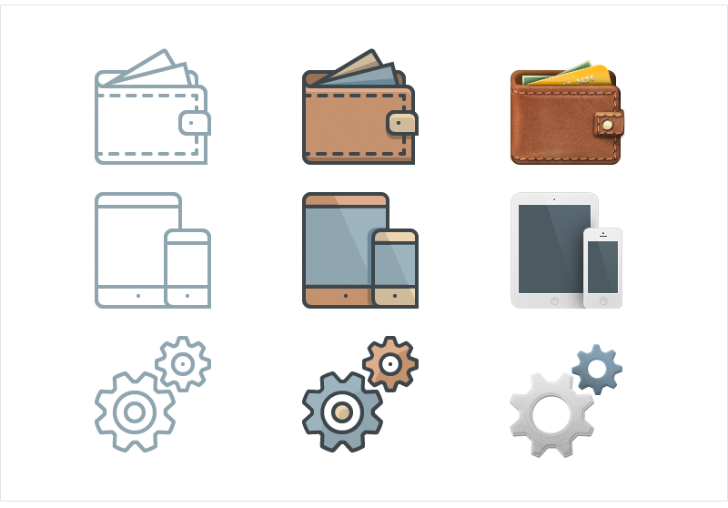 Hand-drawn business icons by Elegant Themes