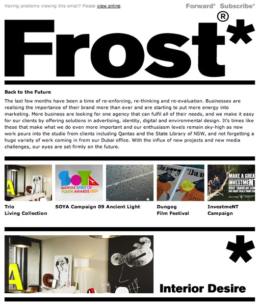 Email Design - Single Column Layout - Frost