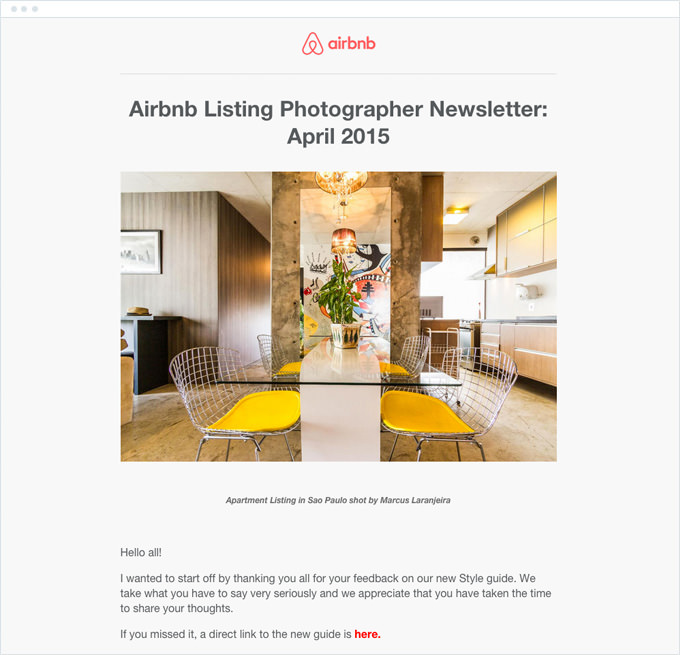 Airbnb - Email Newsletter