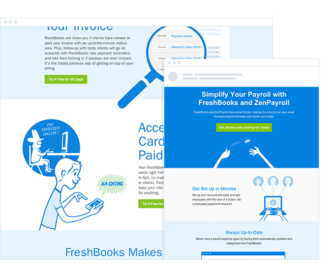 Freshbooks - Email Campaign - Aligned with Branding