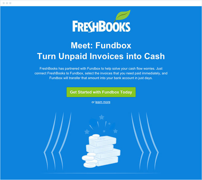 Freshbooks - Compelling Email Body Content