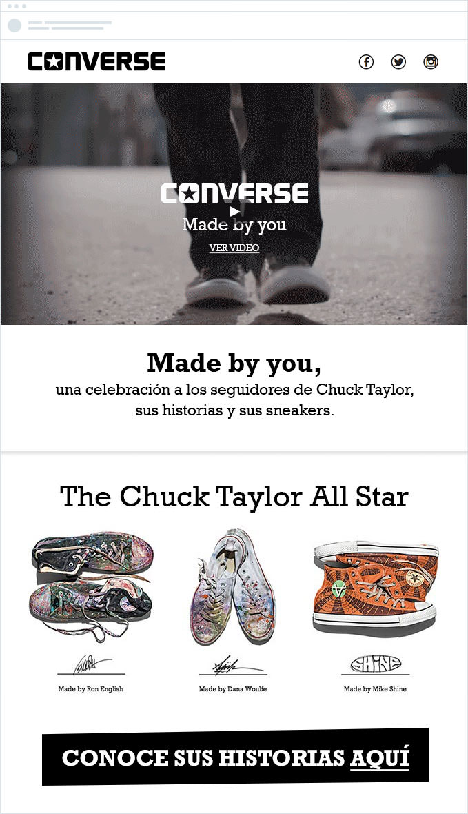 Converse - Geographically Targeted Email Campaigns