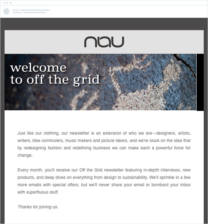 Nau - Automated Welcome Email Series
