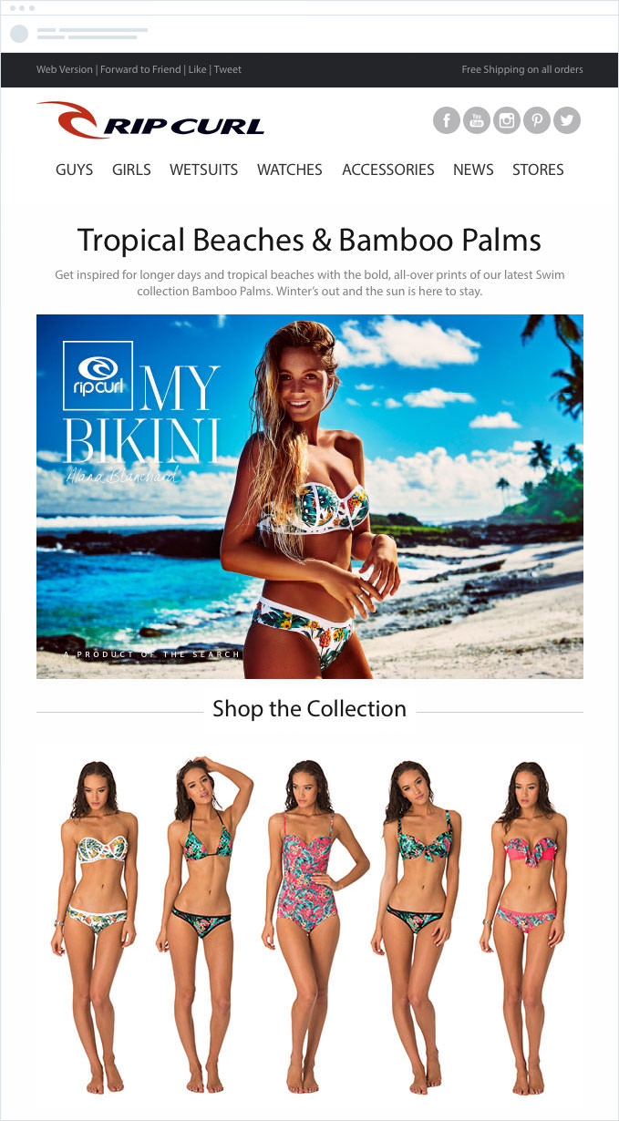 Rip Curl - Targeted Promotions and Special Offers Email
