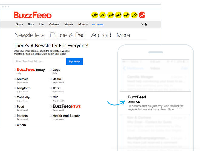 Buzzfeed - Familiar From Name - Avoid Spam Filters