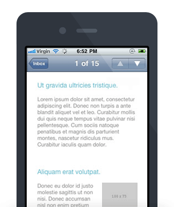 Mobile Email Design - Mobile 3-in-1