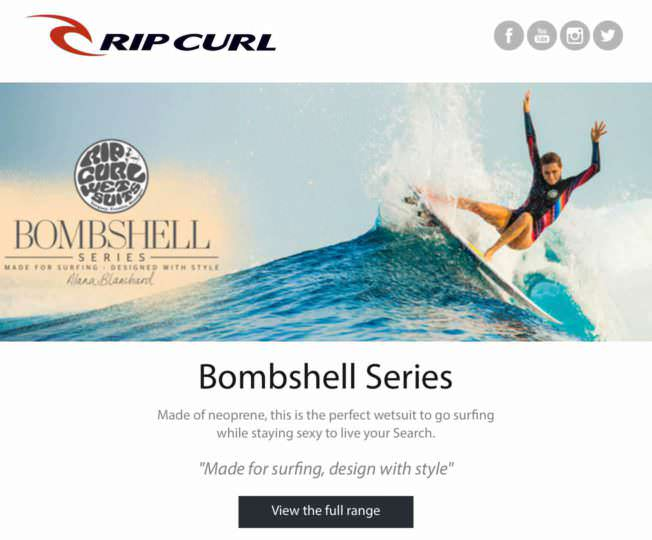Rip Curl - Email Marketing Campaign Example