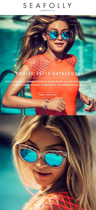 Seafolly - Mobile Email Marketing Campaign Example