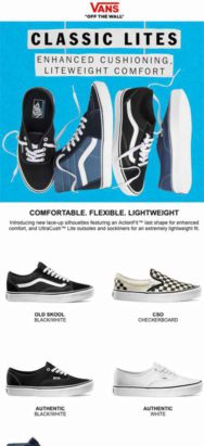 Vans - Mobile Email Marketing Campaign Example