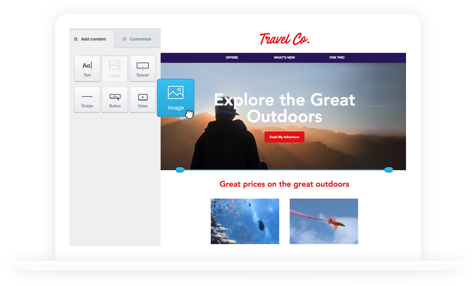 Build a free html email template in less than 60 seconds create email templates that look great everywhere pronofoot35fo Image collections