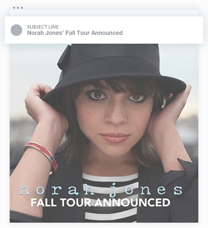 Email Marketing - Norah Jones Announcement Email