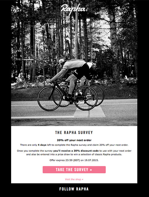 Rapha Email Marketing