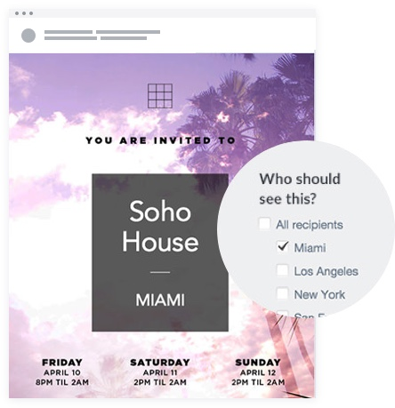 Email Marketing - Soho House Email Invites