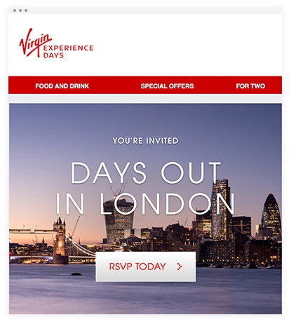 Email Marketing - Virgin Email Invites