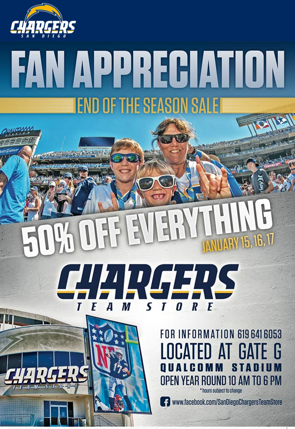Media and Entertainment Email Marketing - San Diego Chargers